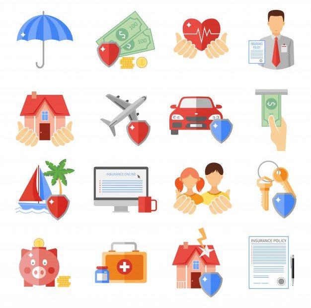 Ikony związane z ubezpieczeniami